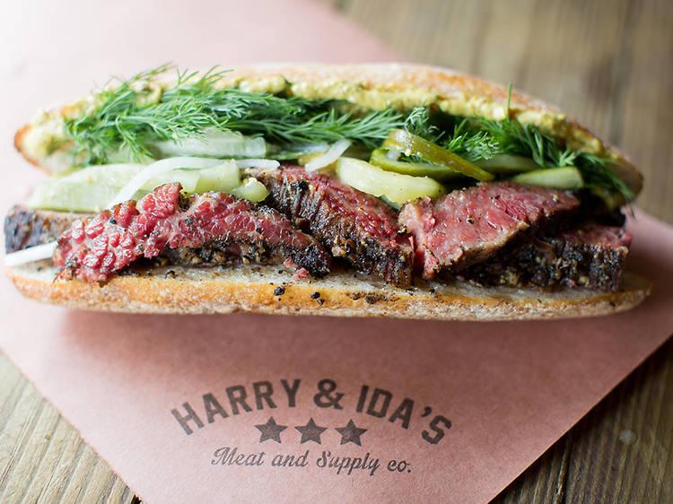 Pastrami sandwich at Harry & Ida's