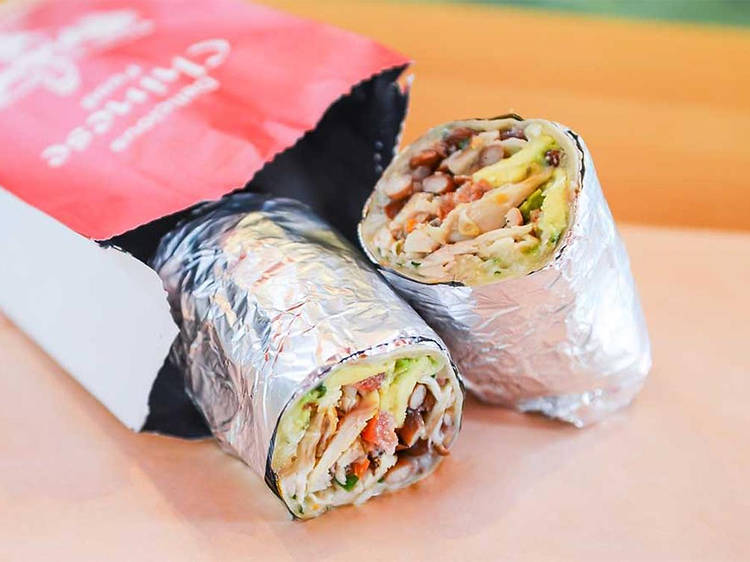 Chinese California Super Burrito at Mission Cantina