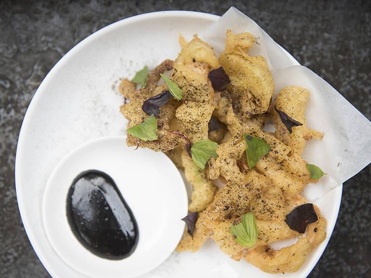 Fried squid at Wildair