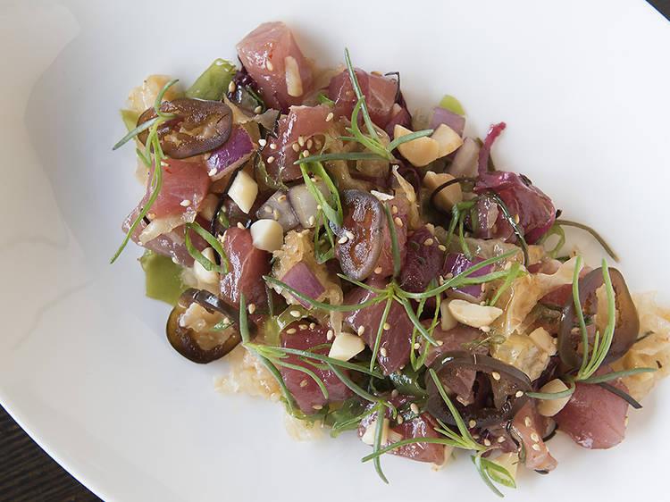Bigeye tuna poke at Noreetuh