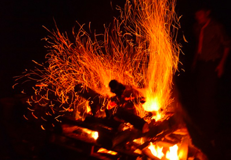 Wildfire bonfire fireworks