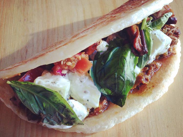 Lamb shoulder taco at Goa Taco