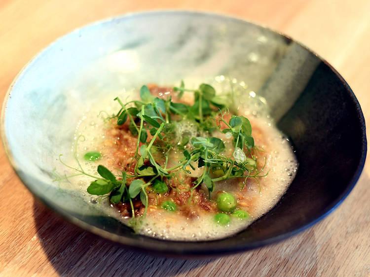 Sweet pea porridge at Faro