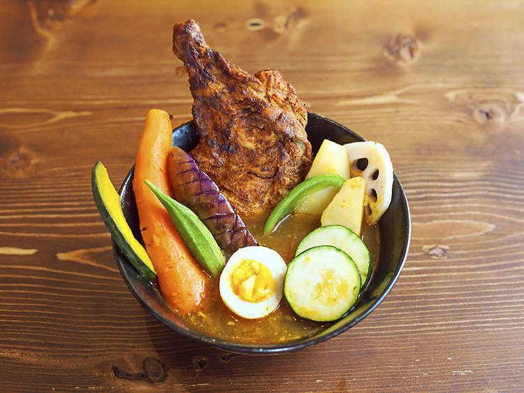 Yakuzen soup curry at Goemon Curry