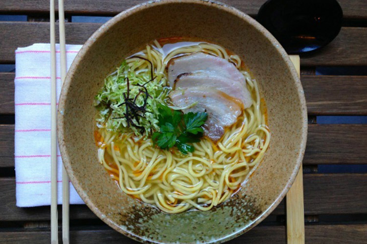 Parmesan dashi ramen at All'onda