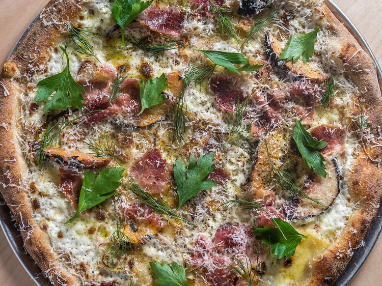 Country ham pizza at Bruno