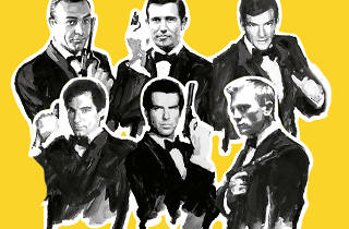 James Bond, agente 007: Pierce Brosnan, Daniel Craig, Timothy Dalton, Roger Moore, Georege Lazenby y Sean Connery