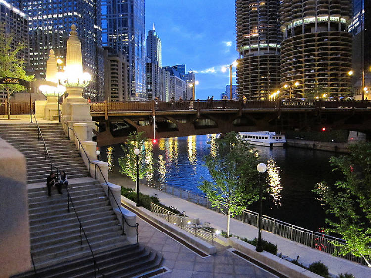Stroll down the Riverwalk