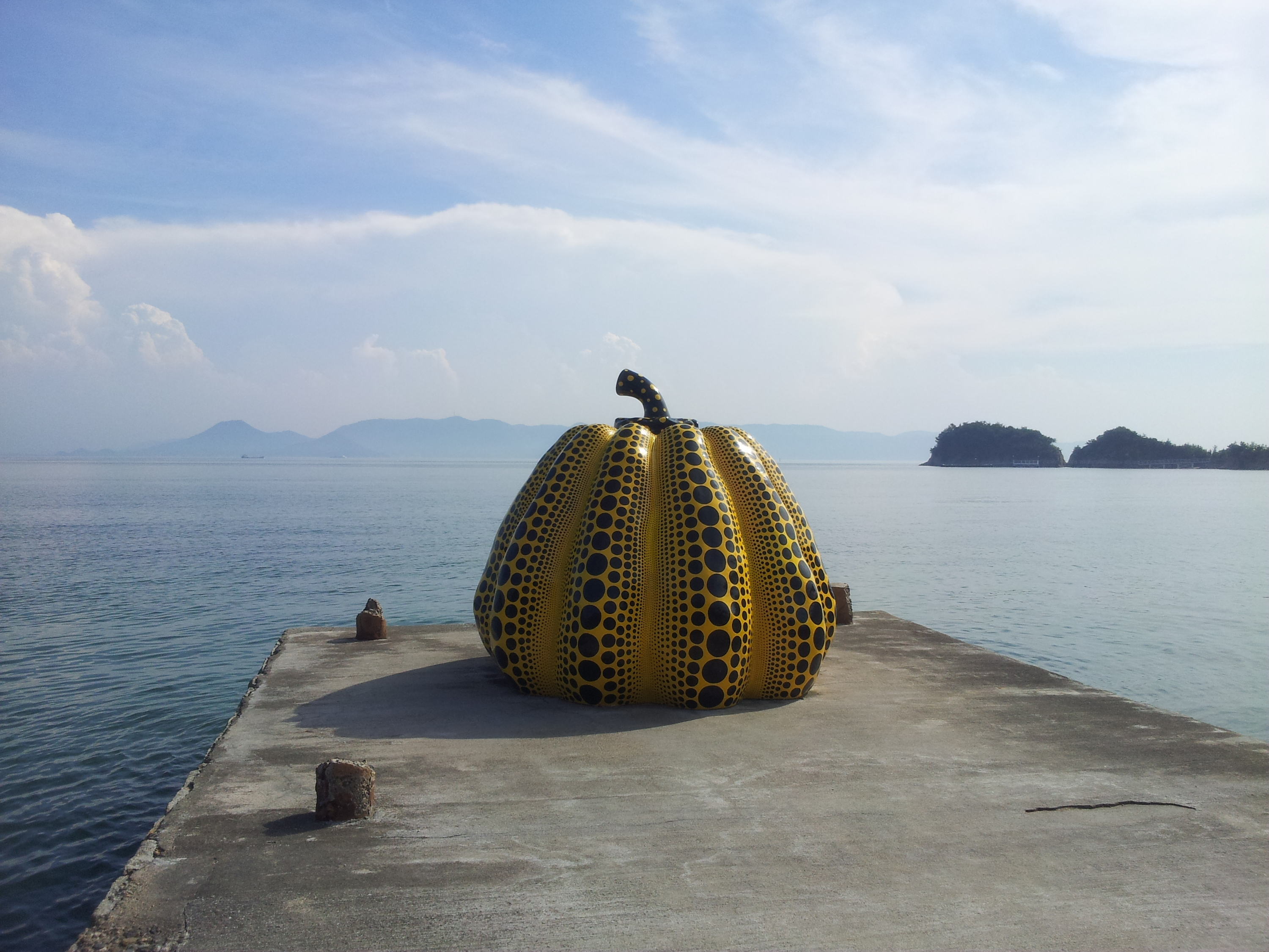 You can go to an art island. Three, in fact