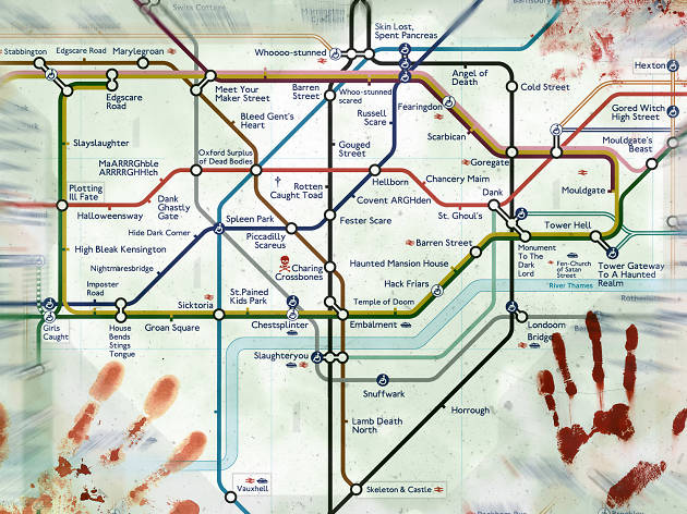 Halloween tube map