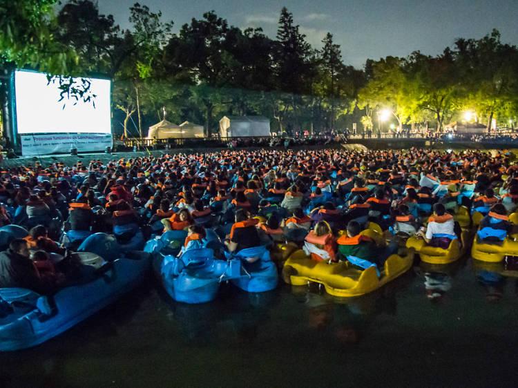 Ve una película en medio de un lago en Lanchacinema