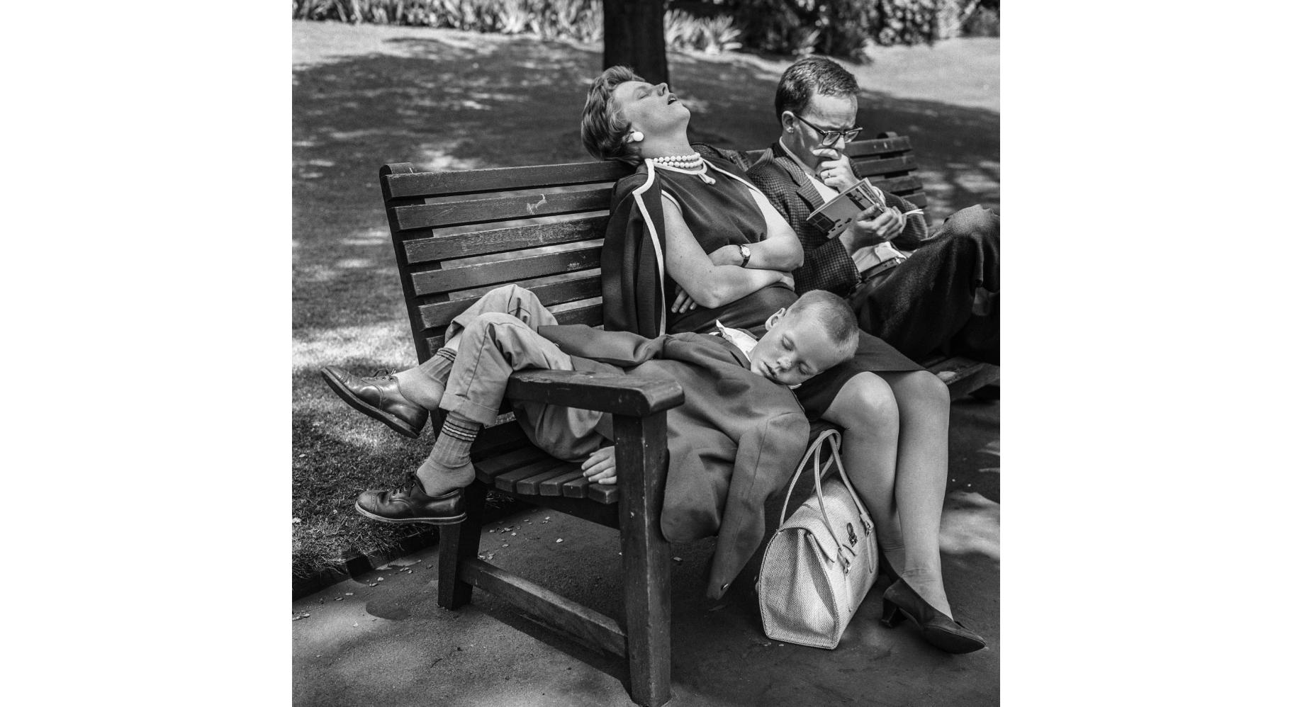 Embankment, Family on Bench, 1963