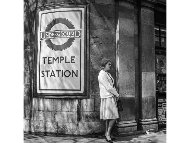 Temple Station, London, 1963