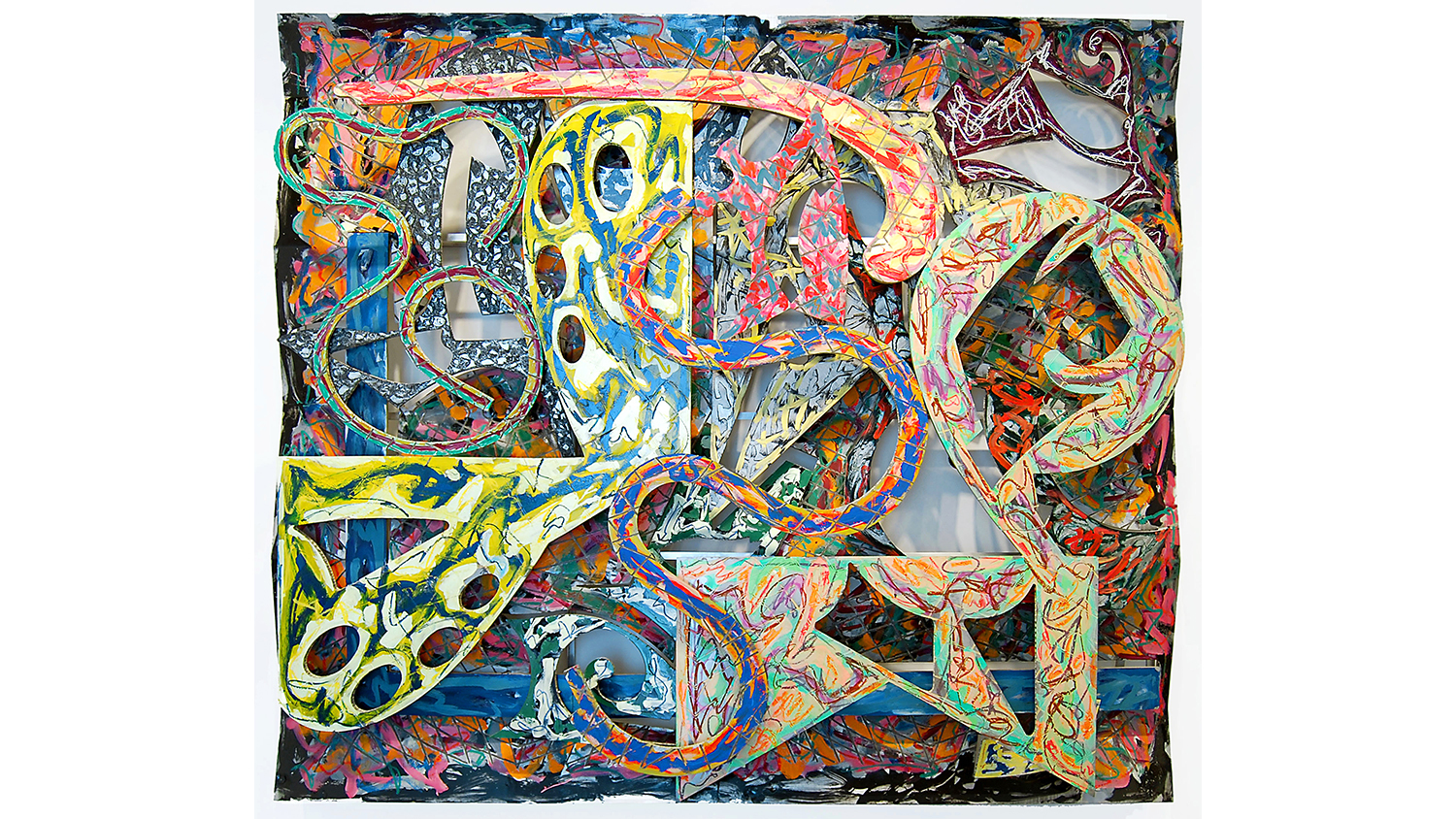 Artist Frank Stella Talks About His Paintings And Sculptures