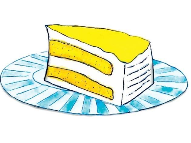 Durian fresh cream cake at Passion Heart Café