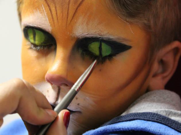 Maquillaje para niños El gato con botas