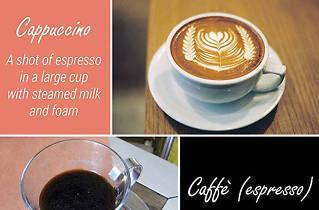 Espresso and Cappucinno at Uncafe