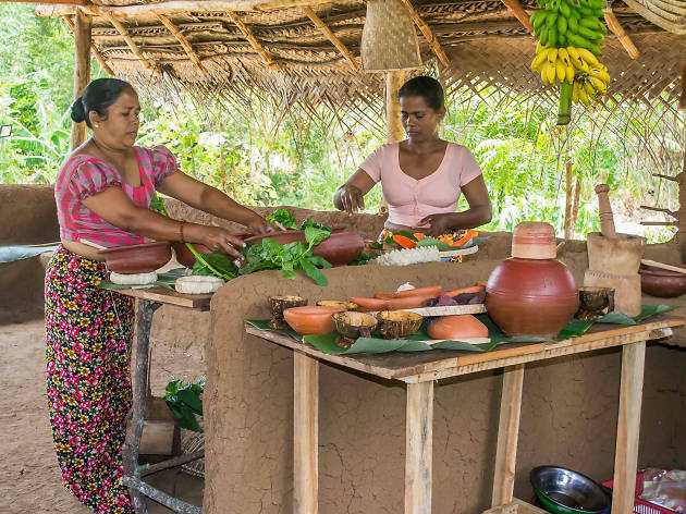 Village lunch with show cooking and demonstration