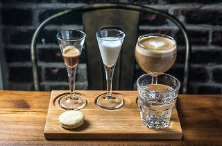Deconstructed latte at Coffee Project New York