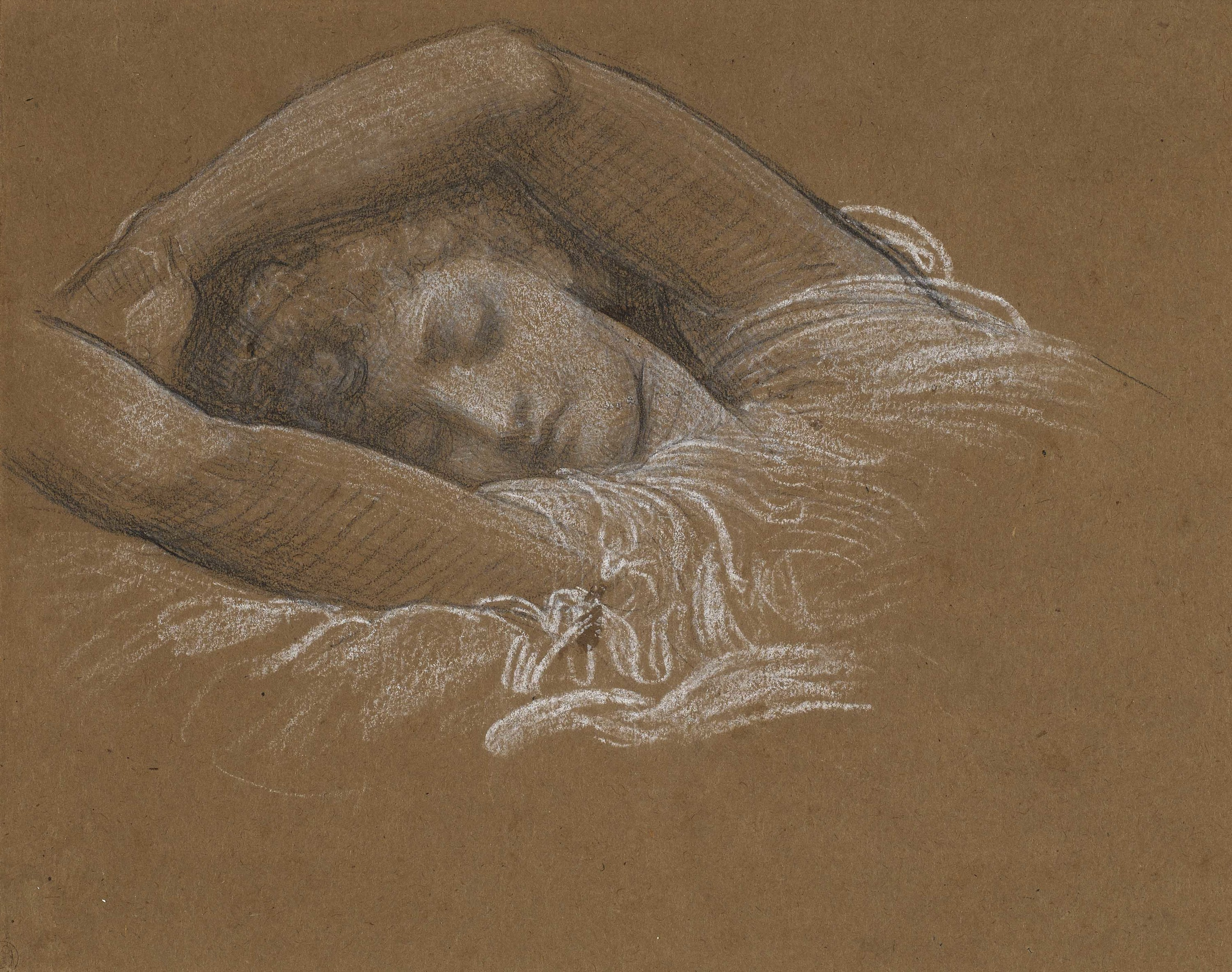 Frederic Leighton, Study of Iphigenia for Cymon and Iphigenia, 1883, Promised Gift from the  Lanigan Collection - ® NGC