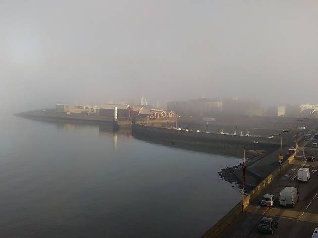 Newhaven Harbour fog