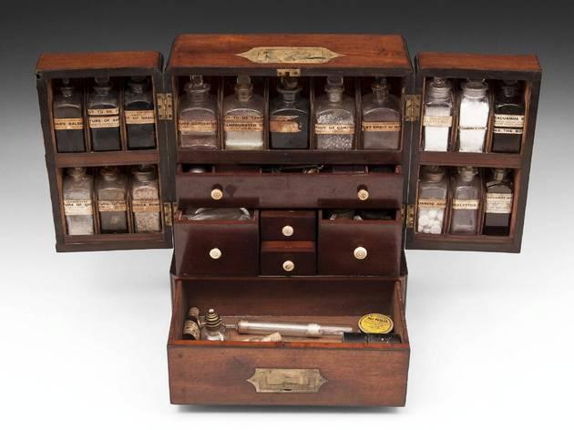 (Apothecary Cabinet. Circa 1840. Courtesy Hamptons Antiques)