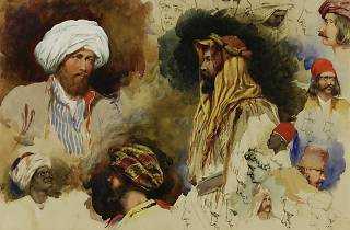 (Richard Dadd, 'Portrait studies of figures in Eastern Costume', 1842. Courtesy Winchester College)