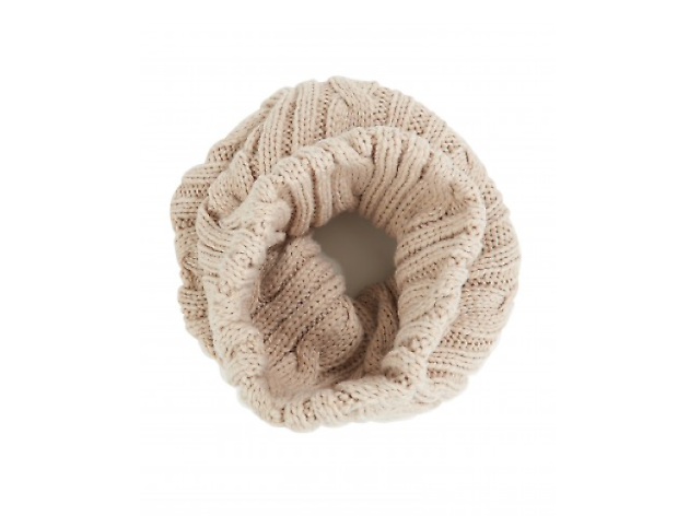 Cream tricot wool snood by Atterley, £28