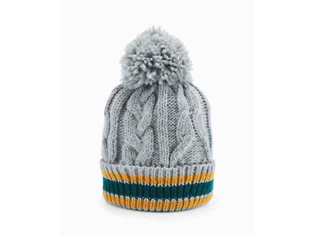 Grey knit hat by Urban Outfitters, £20