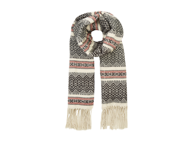 Aztec stripe scarf by Warehouse, £22