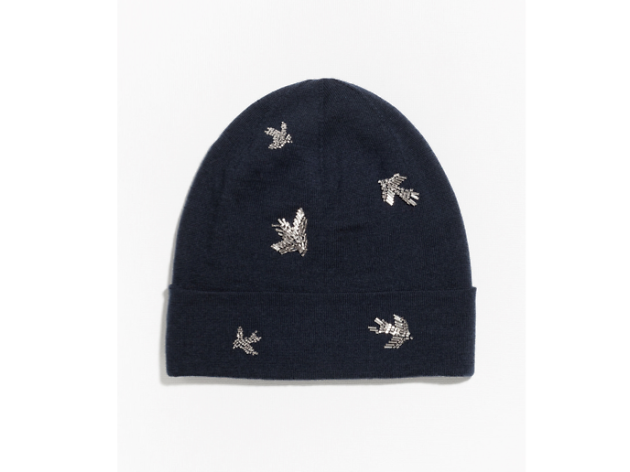 Swallow embroidered beanie by & Other Stories, £45