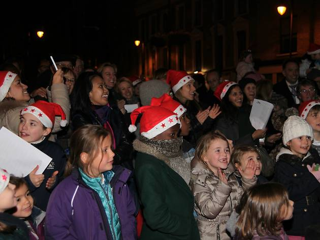 Battersea Square Christmas Lights Switch On and Carols
