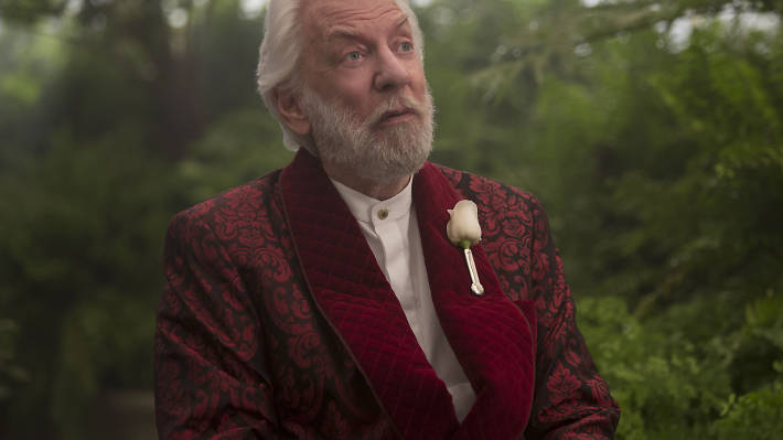 Hunger Games best bits, the twists, donald sutherland