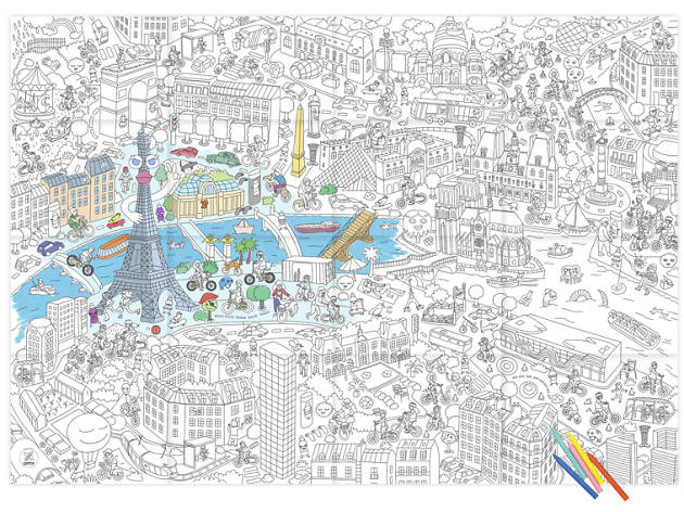 An Omy Paris colour-in map