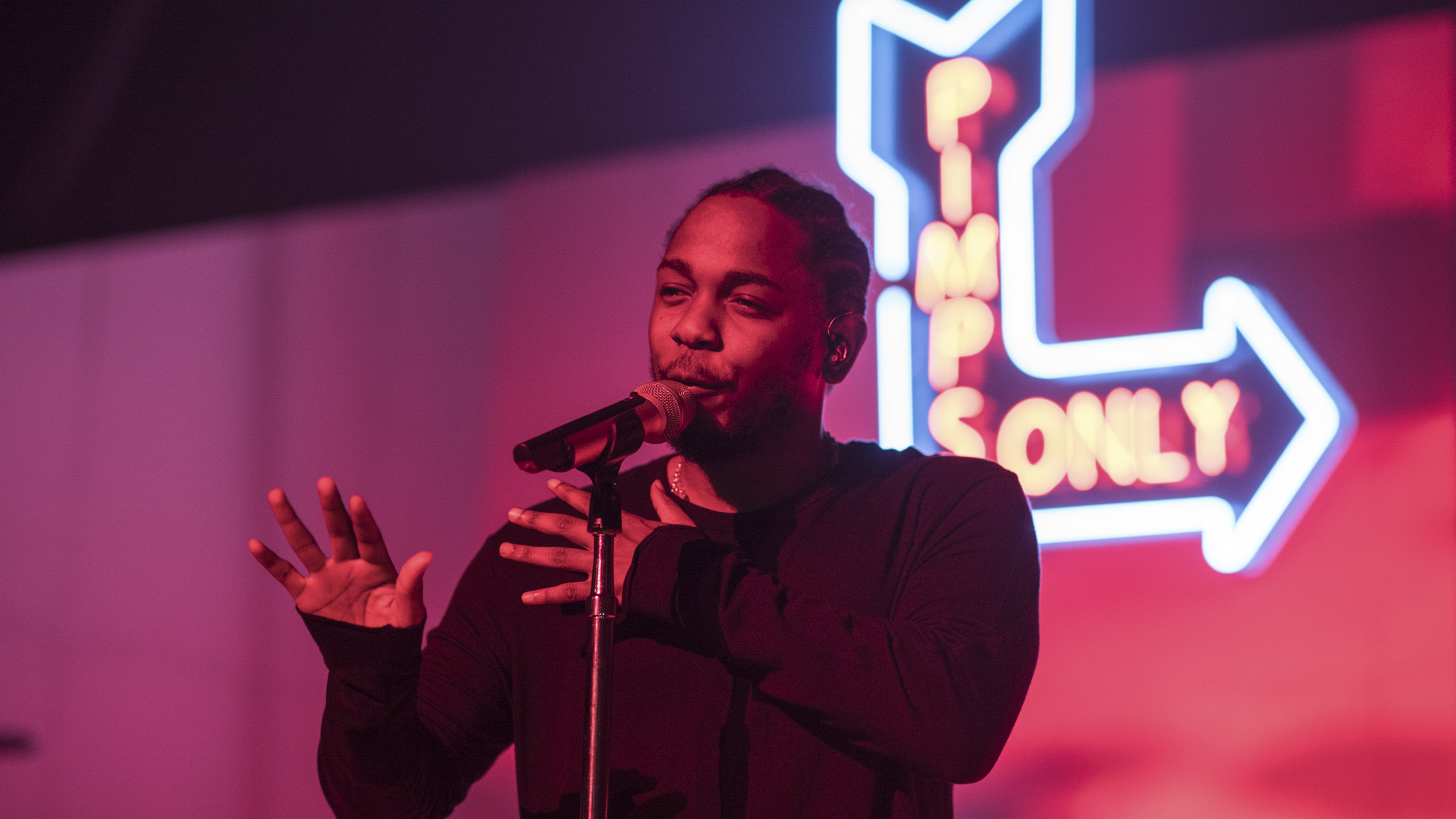 Kendrick Lamar brought his Kunta's Groove Sessions tour to the Riviera Theatre on November 6, 2015.