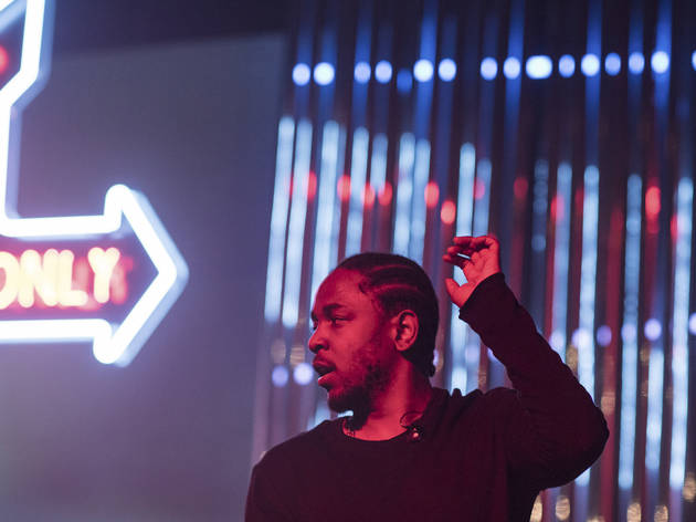 Kendrick Lamar brought his Kunta's Groove Sessions tour to the Riviera Theatre on November 5, 2015.