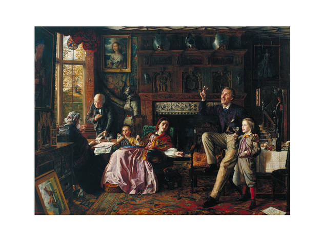 'The Last Day in the Old Home', 1862, by Robert Braithwaite Martineau