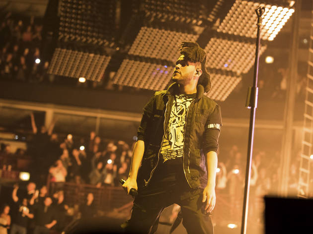 The Weeknd performed at the United Center during his Madness Fall Tour on November 6, 2015.