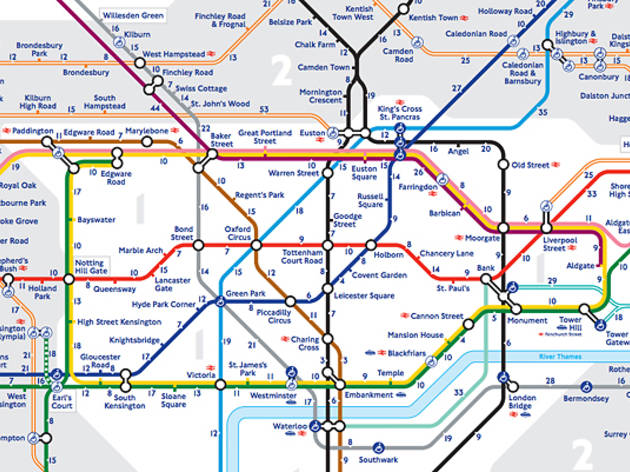 has released a new and improved walking tube map