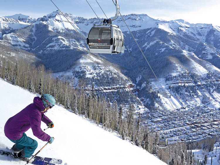 Best (and only) chance to take a helicopter instead of a ski lift: Silverton Mountain and Telluride, CO