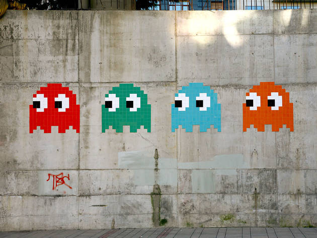 Invader is invading New York with his street-wise, eight-bit mosaics