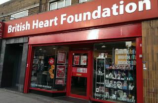 British Heart Foundation charity shop Balham 2015