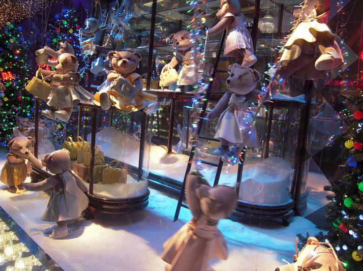 Les illuminations de Noël des grands magasins