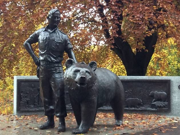Wojtek's statue in Princes Street Gardens