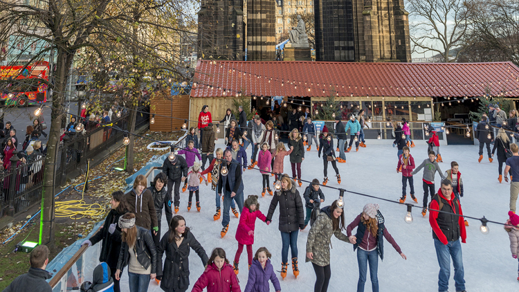 Go ice-skating in the historic New Town