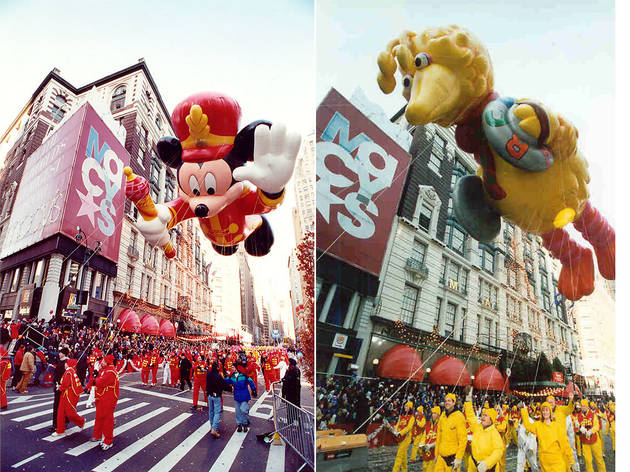 Left: Bandleader Mickey Mouse, 2000; Right: Big Bird, 2001