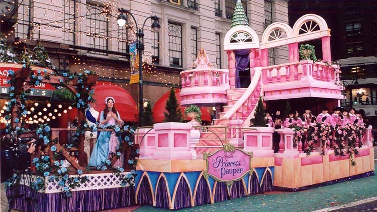 Barbie: The Prince & the Pauper float, 2004