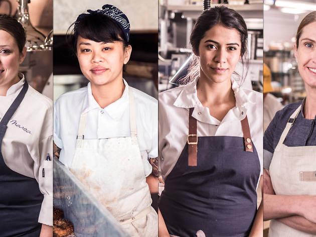 Chefs Lauren @ Marea; Diana @ Black Seed Bagels; Daniela @ Cosme; Melissa @ Sadelle's