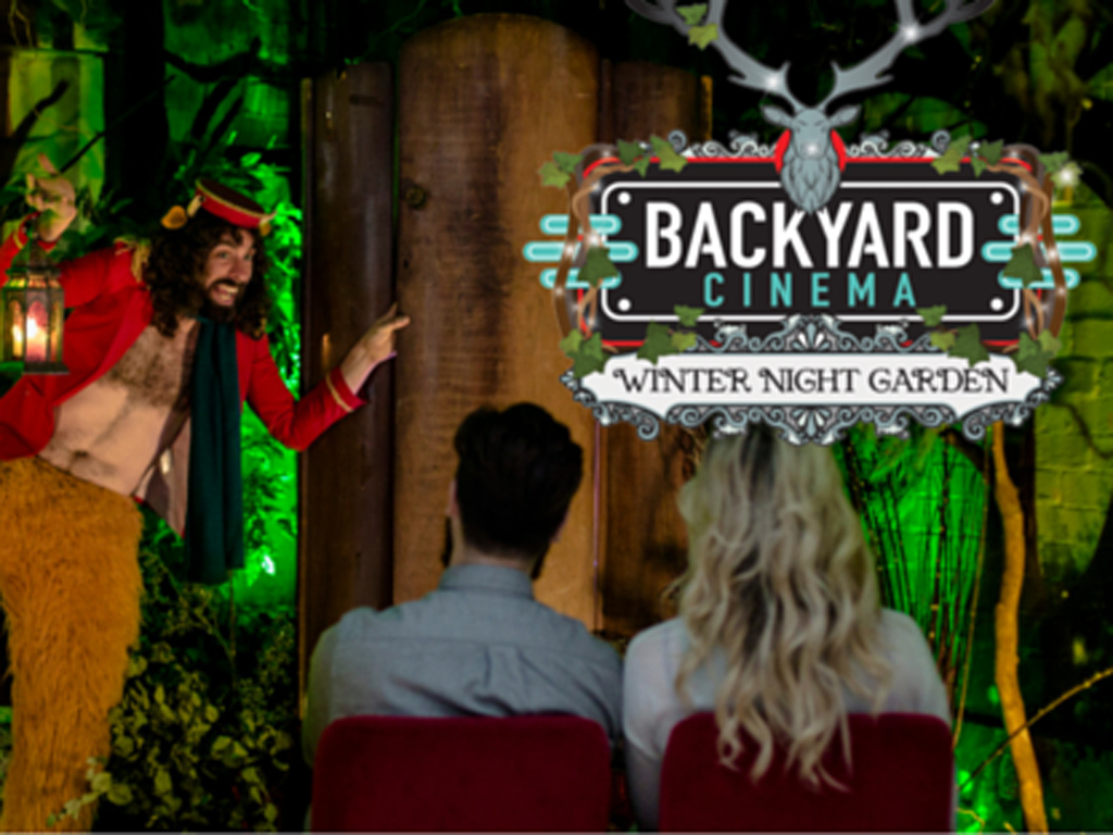 Backyard Cinema's indoor cinema at Winterville