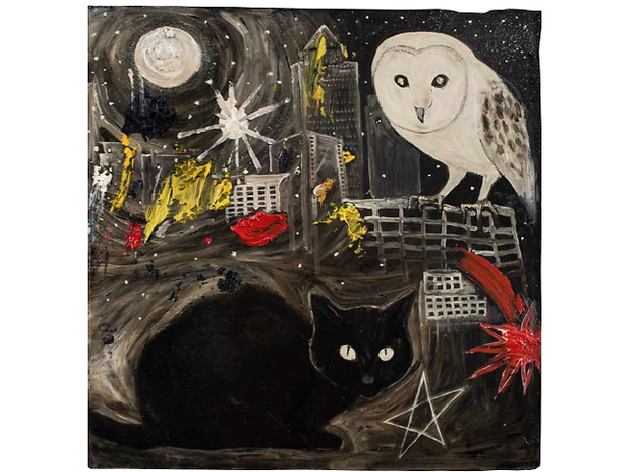 (David Harrison: 'Witchcraft over Docklands', 2013. © David Harrison, courtesy Victoria Miro Gallery)